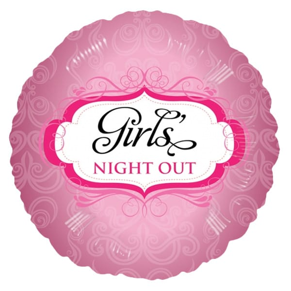 Girls Night Out Round Foil Helium Balloon 46cm / 18Inch