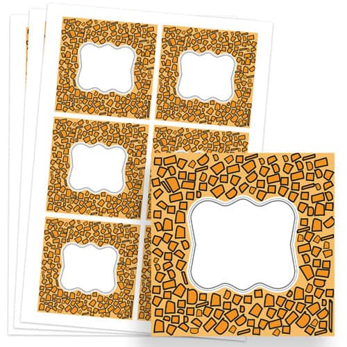 Animals Design 80mm Square Sticker sheet of 6 Product Image