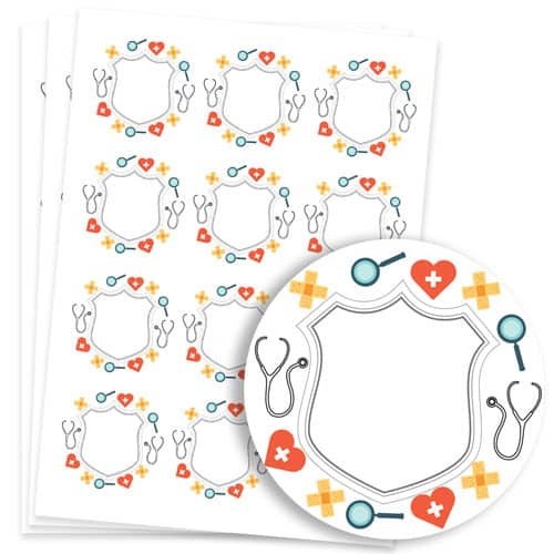 Doctors Design 60mm Round Sticker sheet of 12 Product Image