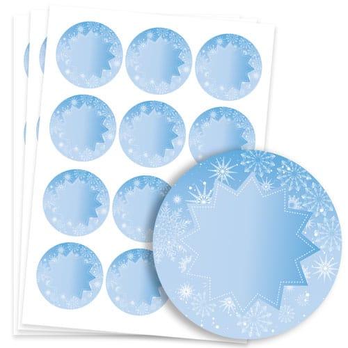 Frozen Design 60mm Round Sticker sheet of 12 Product Image