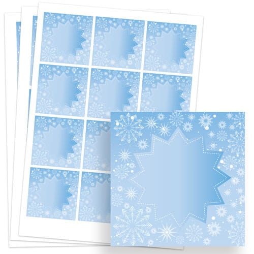 Frozen Design 65mm Square Sticker sheet of 12 Product Image