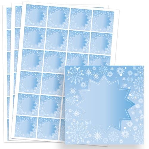 Frozen Design 40mm Square Sticker sheet of 24 Product Image