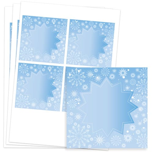 Frozen Design 95mm Square Sticker sheet of 4 Product Image