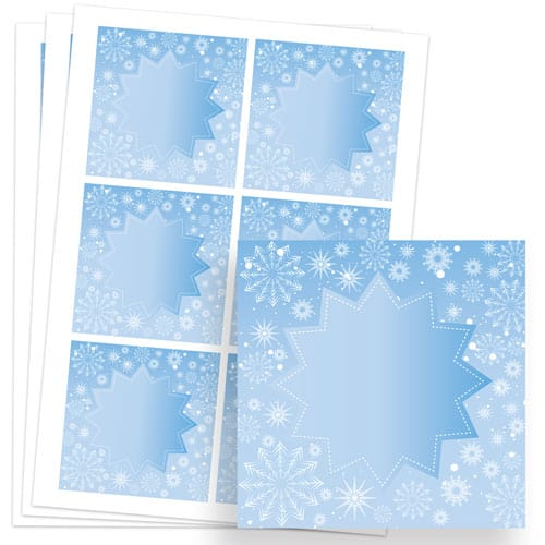 Frozen Design 80mm Square Sticker sheet of 6 Product Image