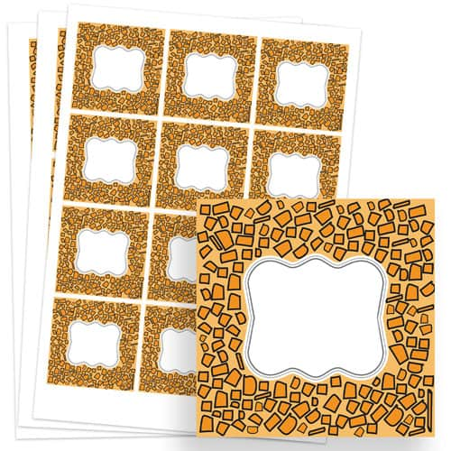 Animals Design 65mm Square Sticker sheet of 12 Product Image
