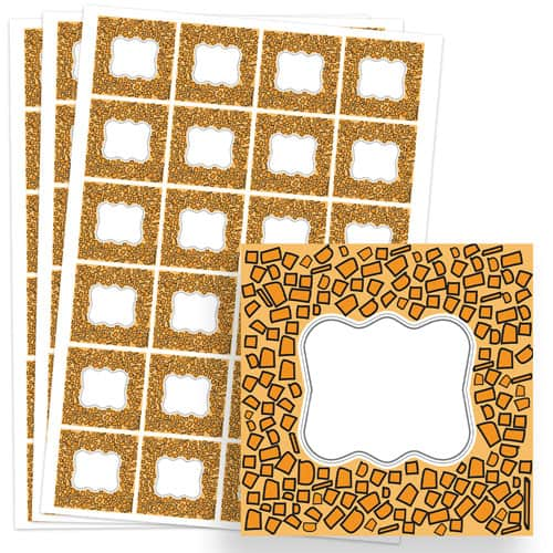 Animals Design 40mm Square Sticker sheet of 24 Product Image