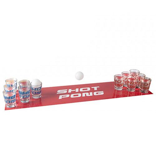 Glass Shot Pong Adult Drinking Game Set
