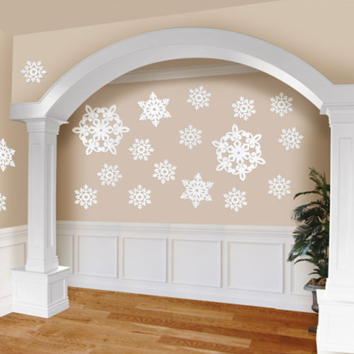 Glitter Snowflake Cutouts Christmas Decorations - Pack of 20 Product Image