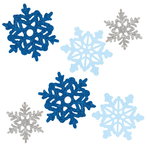 Glitter Snowflakes Assorted Christmas Mini Cutouts - Pack of 6 Product Image
