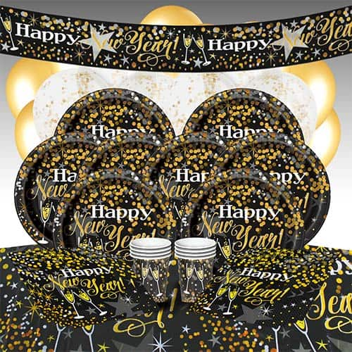 Glittering New Year 16 Person Deluxe Party Pack Product Image