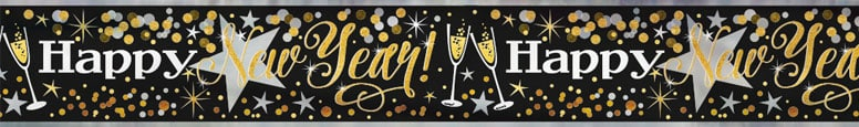 Glittering New Year Foil Banner 365cm Bundle Product Image
