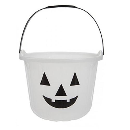 Glow In The Dark Halloween Trick And Treat Jumbo Candy Bucket 17cm