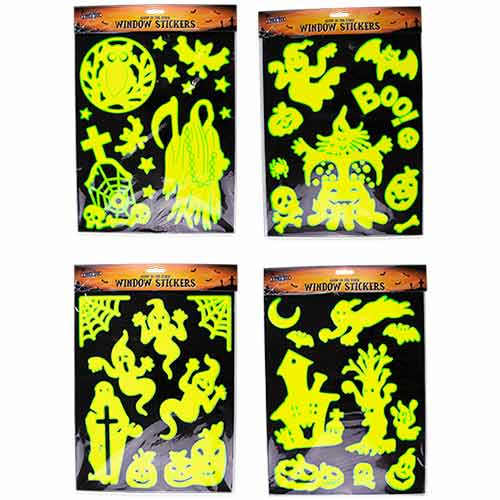 Glow In The Dark Halloween Window Stickers Decorations