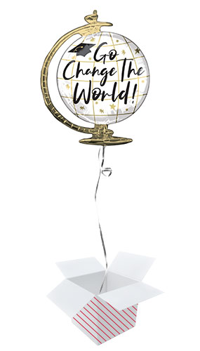 Go Change The World Globe Helium Foil Giant Balloon - Inflated Balloon in a Box Product Image