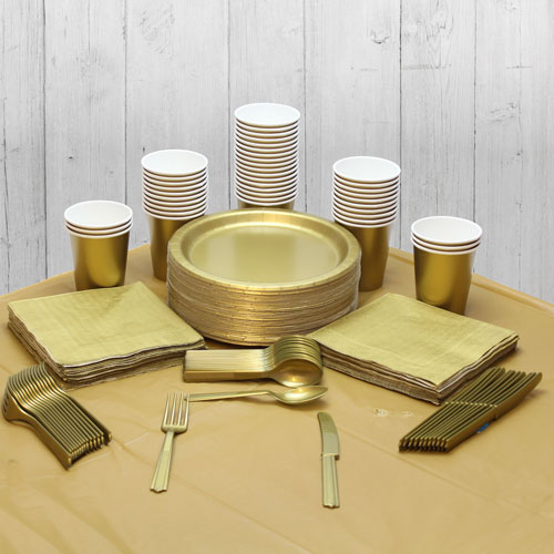 Gold 56 Person Party Pack Product Image