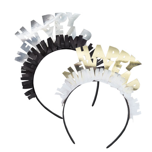 Happy New Year Assorted Headbands - Pack of 4 Product Image