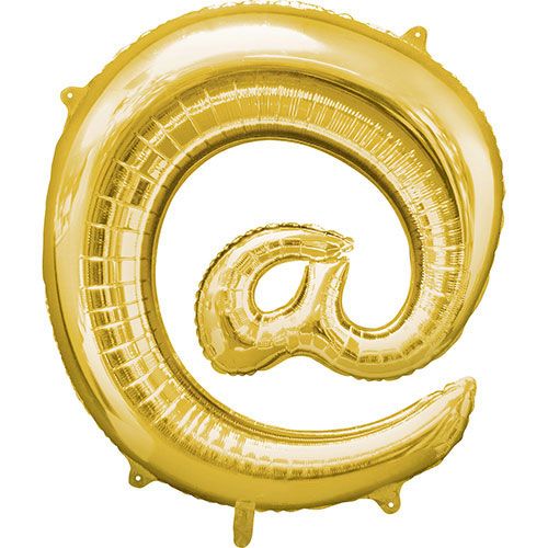 Gold At Symbol Air-Filled Foil Balloon 40cm / 16Inch