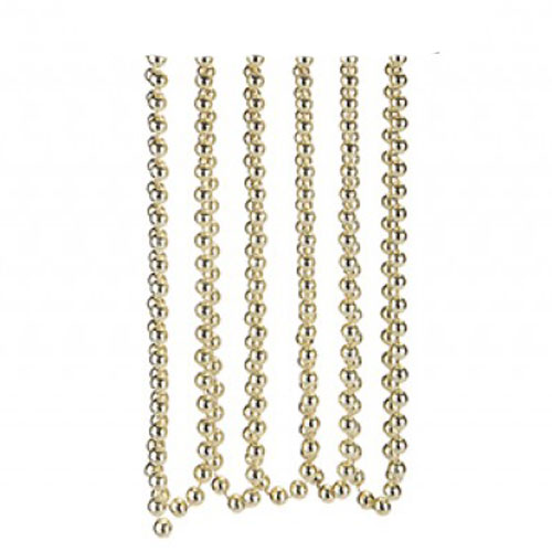 Gold Bead Chain Christmas Decoration 2.7m Product Image