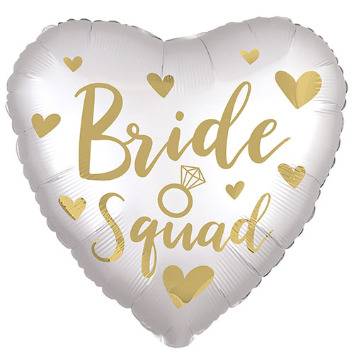 Gold Bride Squad Satin Luxe Heart Shape Foil Helium Balloon 45cm / 18 in
