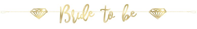 Bride to Be Gold Foil Cardboard Letter Banner 182cm