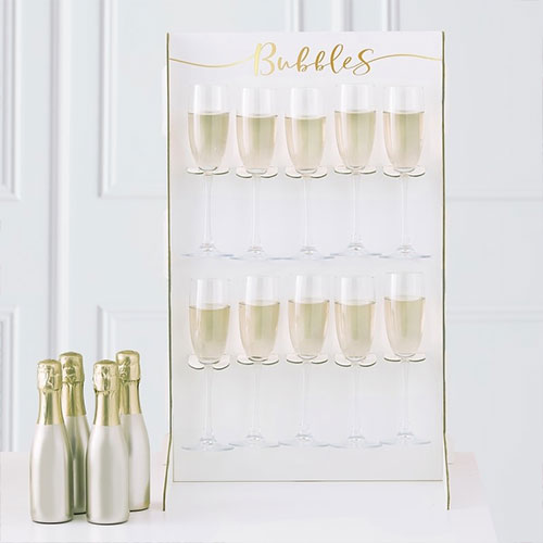 Gold Foiled Bubbles Prosecco Drinks Wall Holder 60cm Product Image