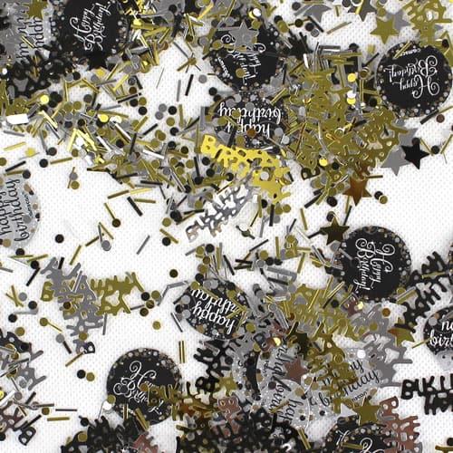 Gold Celebration Happy Birthday Confetti 34 Grams - Pack of 3