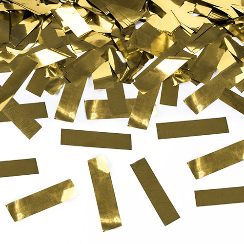 Gold Metallic Confetti Party Cannon 60cm Product Gallery Image