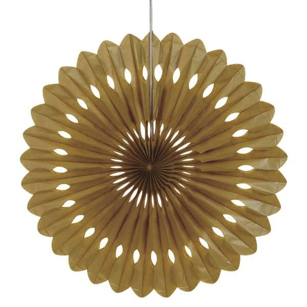 Gold Hanging Decorative Honeycomb Fan 40cm Product Image