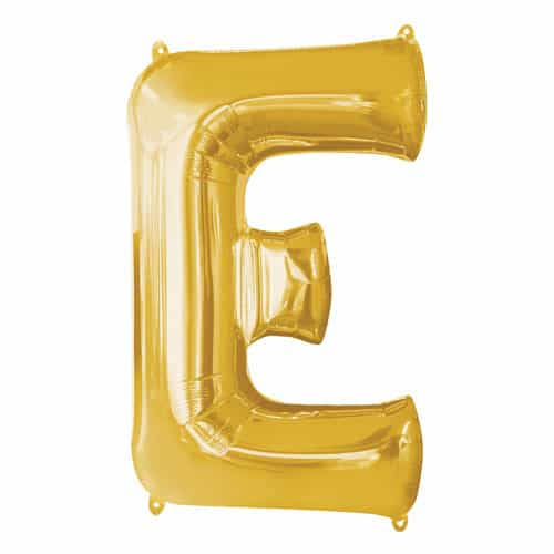 Gold Letter E Air Fill Foil Balloon 40cm / 16Inch Bundle Product Image