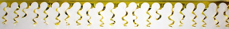 Gold Foil Spiral Garland - 18 Ft x 15 Inches / 549 x 38cm - Pack of 10 Product Image