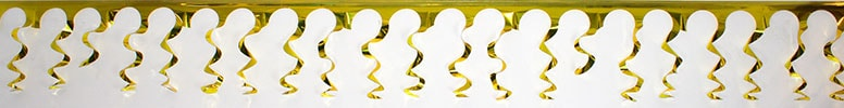 Gold Foil Spiral Garland - 18 Ft x 15 Inches / 549 x 38cm - Pack of 5