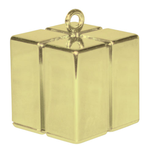 Gold Gift Box Balloon Weight 110g Product Image