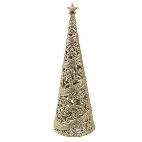 Gold Glitter Decorative Christmas Tree 24cm Product Image