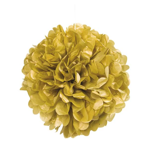 Gold Honeycomb Hanging Decoration Puff Ball 40cm Product Image