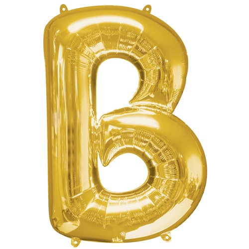 Gold Letter B Air Fill Foil Balloon 40cm / 16Inch Bundle Product Image
