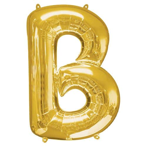 Gold Letter B Helium Foil Giant Balloon 86cm / 34 in Product Image