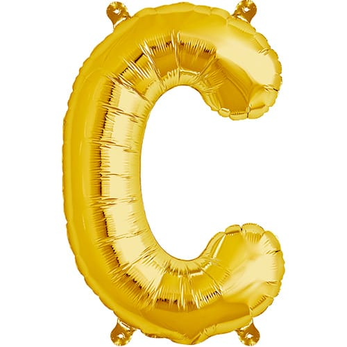 Letter C Gold Air Fill Foil Balloon 40cm / 16 in	 Product Image