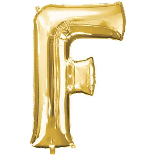 Gold Letter F Air Fill Foil Balloon 40cm / 16Inch Product Image