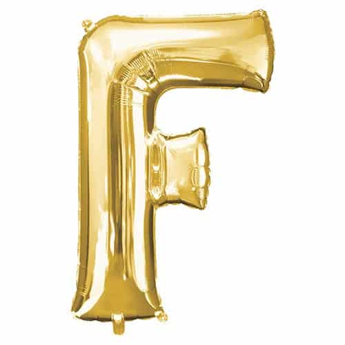 Gold Letter F Helium Foil Giant Balloon 81cm / 32 in Product Image