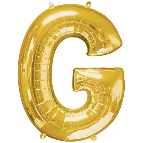 Gold Letter G Air Fill Foil Balloon 40cm / 16Inch Product Image