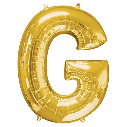 Gold Letter G Helium Foil Giant Balloon 81cm / 32 in Product Image