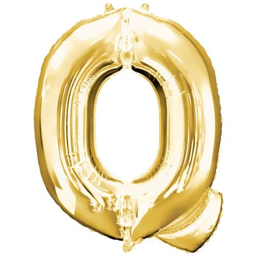 Gold Letter Q Air Fill Foil Balloon 40cm / 16Inch Product Image