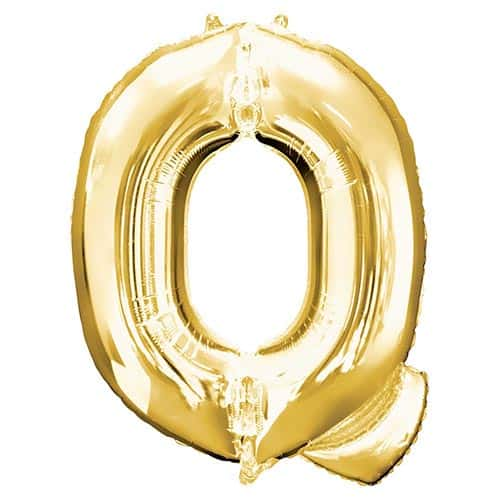 Gold Letter Q Helium Foil Giant Balloon 81cm / 32 in Product Image