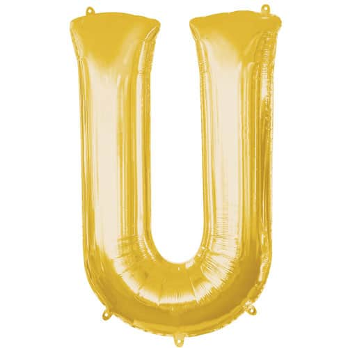 Gold Letter U Air Fill Foil Balloon 40cm / 16Inch Product Image