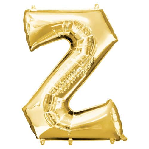 Gold Letter Z Air Fill Foil Balloon 40cm / 16Inch Product Image
