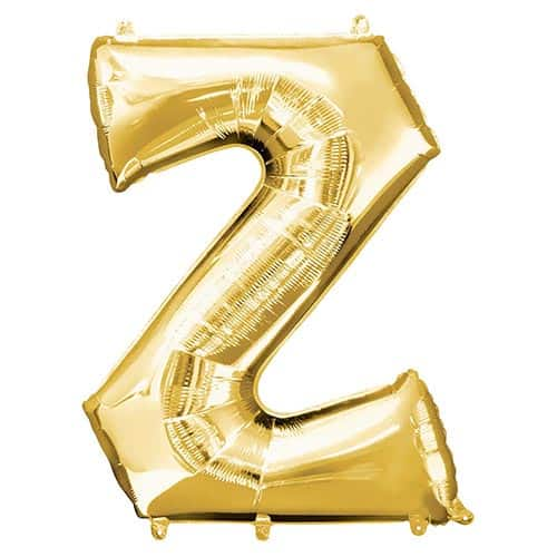 Gold Letter Z Helium Foil Giant Balloon 83cm / 33 in Product Image