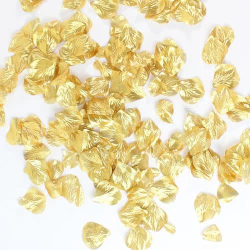 Gold Metallic Fabric Rose Petals Product Image