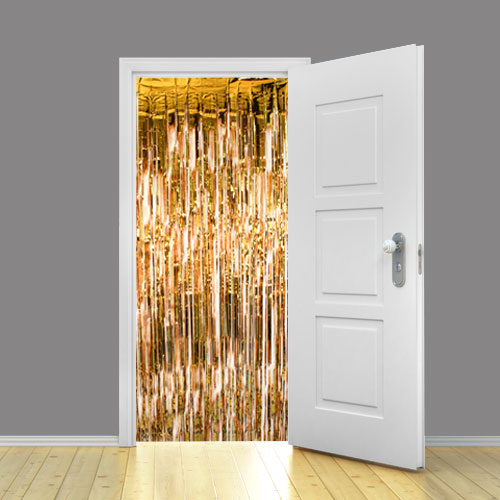 Gold Metallic Shimmer Curtain 95cm x 200cm