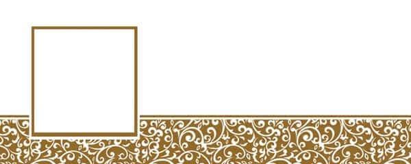Gold Ornamental Pattern Design Large Personalised Banner - 10ft x 4ft