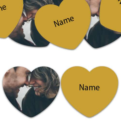 HEART Shape - Gold Personalised Confetti - Pack of 50